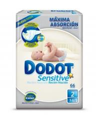 DODOT PLUS R. NACIDO (SENSITIVE) T/2 66 UND  3-6 KG