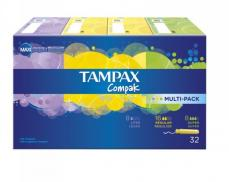 TAMPAX COMPAK MULTIPACK 32 UNID.